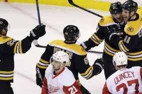 Wings outgunned by ornery Bruins in 5-2 loss
